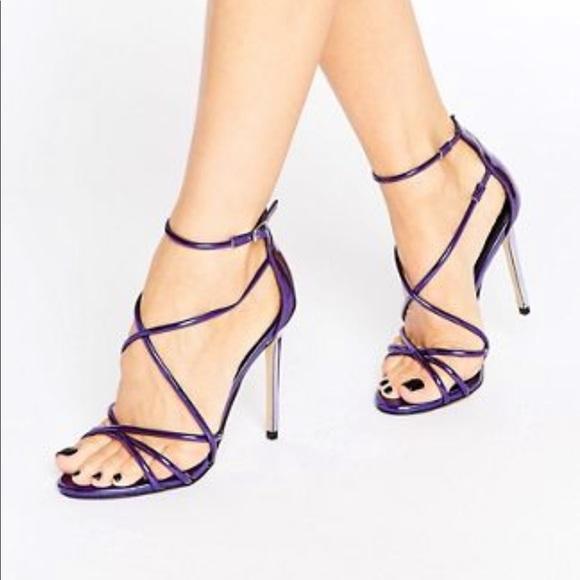 Strappy Purple Heels